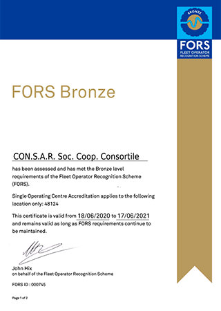 FORS - CERTIFICATE OF MEMBERSHIP SILVER LEVEL